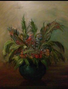 Ваза с цветами, 2015г., холст, масло 70*50