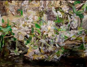 Инвер Хуако, Цветение дерева,100х75, холст, масло, 2017 г.