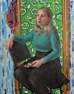Мария Веретутина, Виктория, 90х75, холст, масло, 2018 г.