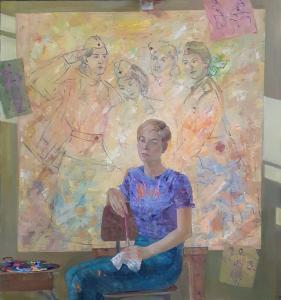 Мария Веретутина, Моя фронтовая семья, 130х125, холст, масло, 2020 г.