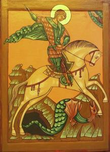 икона св Георгия Победлоносца Ю Водзинского