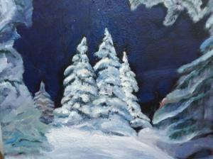Зима(холст,масло)