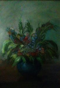 Ваза с цветами (холст ,масло)