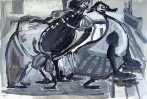 Танцплощадка. б.тем.; 28х42; 2013