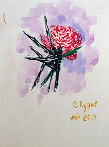 Шипы и Роза. кар.акв.; 21х15; 2014