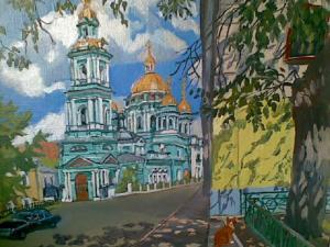 Базина Елоховкий собор,40х30,х.м.2010