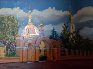 Базина Храм Всех Святых на Соколе,45х60,х,м,2014