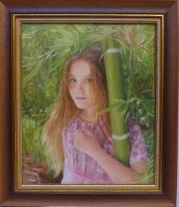 «Портрет  дочери». Май 2015. Размер 2530 холст, масло.