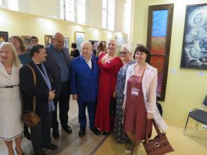 Нродный художник СССР,Президент РАХ З.Церетели и Председатель ТСПХ И.Игнатков с членами ТСПХ