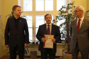 Председатель комитета по культуре МГД Е.Герасимов, депутат МГД В.Скобинов и Председатель ТСПХ И.Игнатков