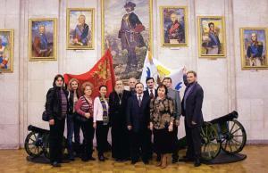 Председатель ТСПХ И.Игнатков с членами ТСПХ в Петровском зале Академии Генерального штаба ВС РФ
