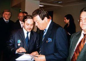 Председатель комитета по культуре ГД РФ И.Кобзон и Председатель ТСПХ Иван Игнатков