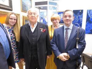 Народный художник СССР, Президент РАХ З.Церетели и Председатель ТСПХ И.Игнатков с членами ТСПХ