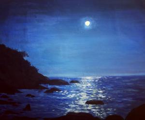 Индийский океан вечером
