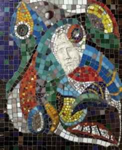 Николай Чудотворец | оргалит , мозаика , глина | 2011 | 63X53
