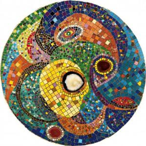 Космос | Ø 79 | оргалит, мозаика | 2012