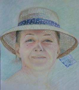 Девушка в шляпке - паст-бум - 30x40 - 2011