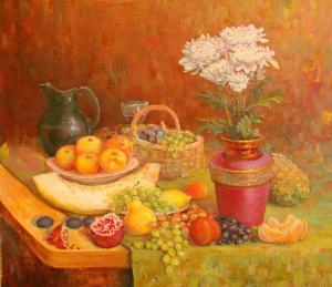 Натюрморт с кр вазой - масло-х - 55x75-2015