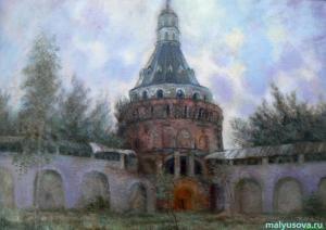 Малюсова Т. Башня Дуло Симонова монастыря .х.м