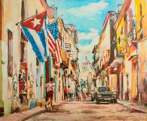 Кубинское путешествие 3-холст-масло-60×50-2019