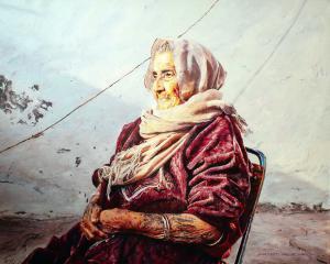 Почтенная женщина-холст-масло-100×80-2018