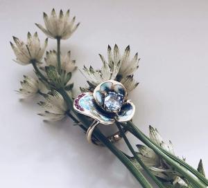 Кольцо с эмалью 2